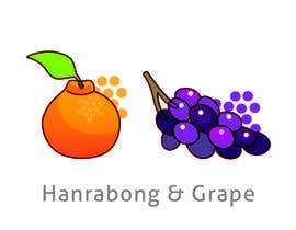 #69 for draw Hanrabong and Grape in vector illutration af xitl