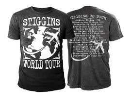 #32 untuk Stiggins World Tour tee Shirt design oleh sajeebhasan166