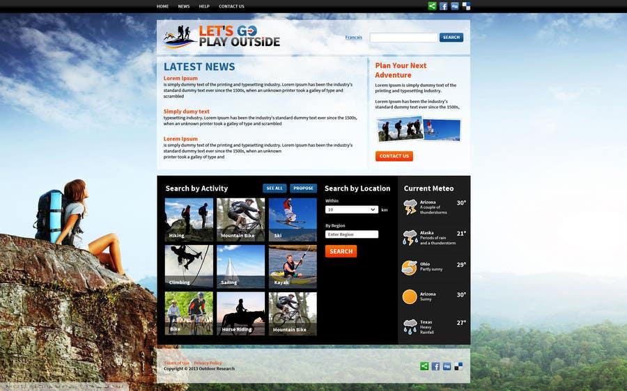 Kilpailutyö #18 kilpailussa Website Design for Let's Go Play Outside