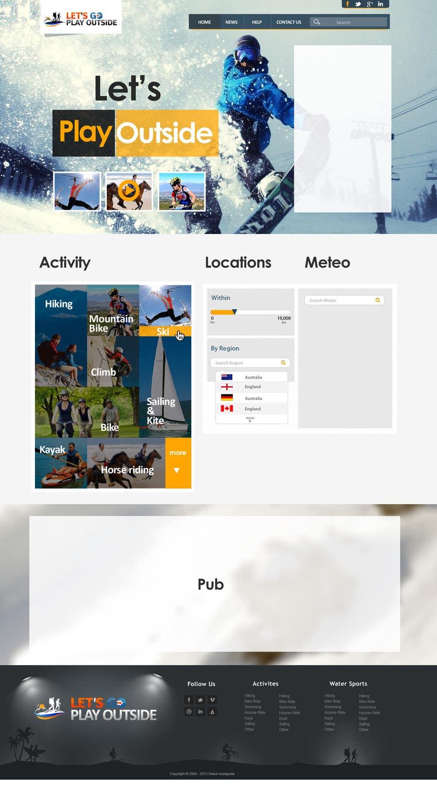 Kilpailutyö #13 kilpailussa Website Design for Let's Go Play Outside