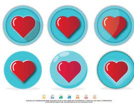 #21 untuk Heart icon for gamification currency on diabetes website oleh Maxbah