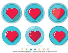 #22 untuk Heart icon for gamification currency on diabetes website oleh Maxbah