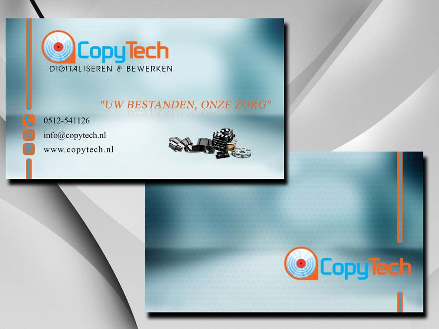#37 for Business Card Design for Copytech.nl by argpan