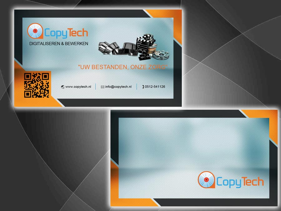 Konkurrenceindlæg #                                        52                                      for                                         Business Card Design for Copytech.nl