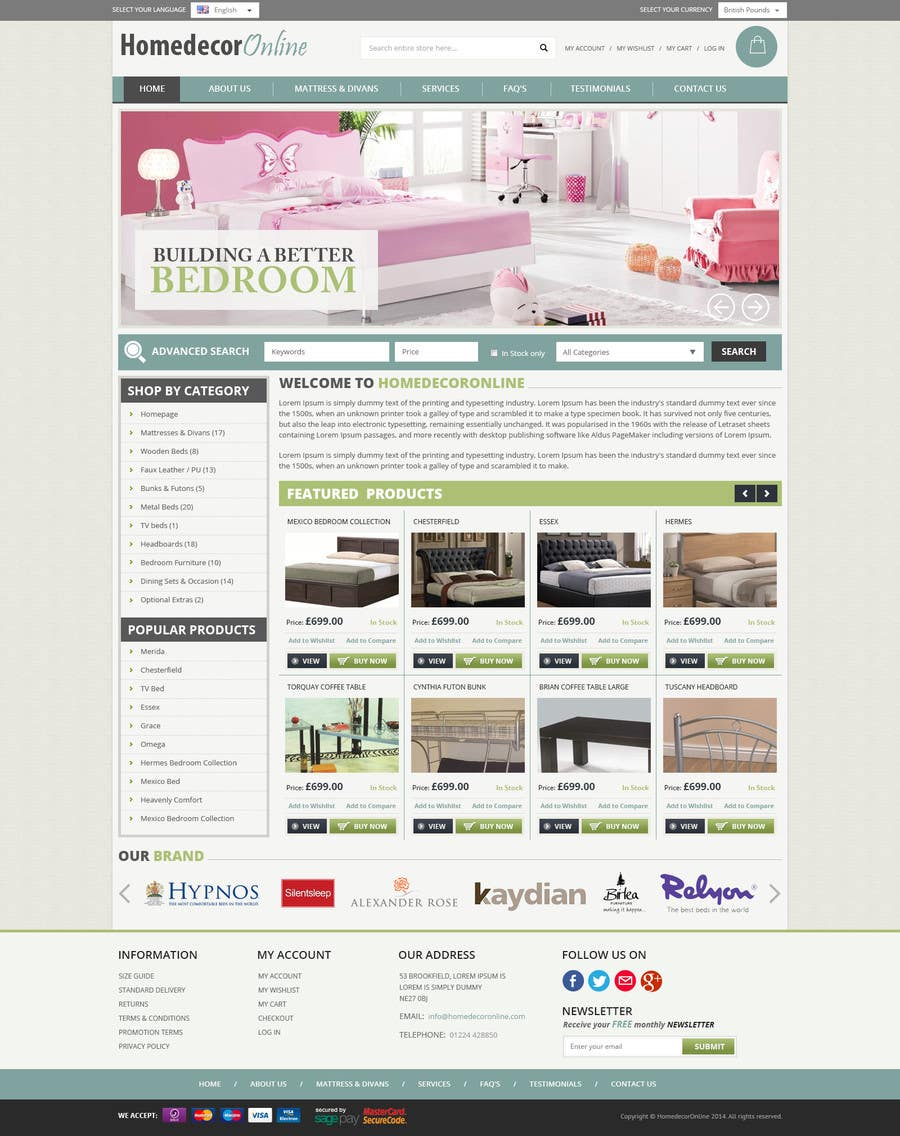 Entry #17 by somalsoft for Build a blog website using the Avada ...