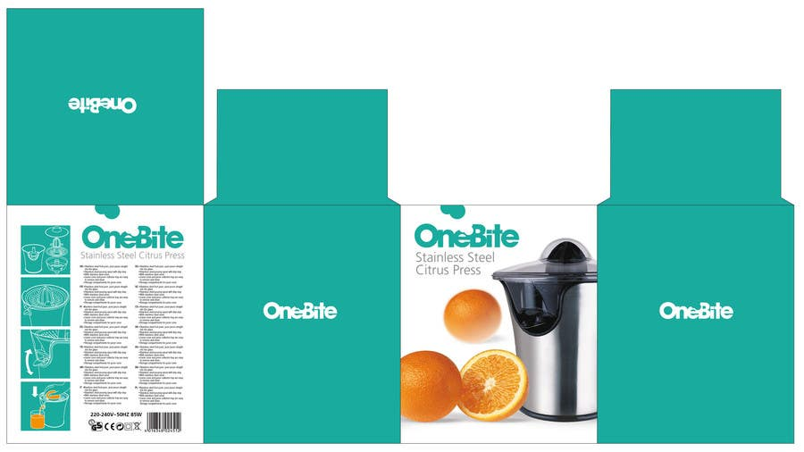 Bài tham dự cuộc thi #                                        18                                      cho                                         Create Minimalistic Print and Packaging Designs for a Citrus Juicer