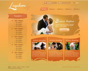 #8 for Website Design for Wedding Portal by brnbhttchry