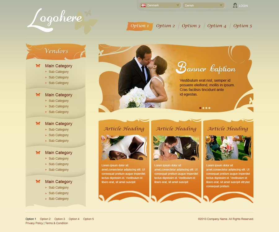 #29 for Website Design for Wedding Portal by brnbhttchry