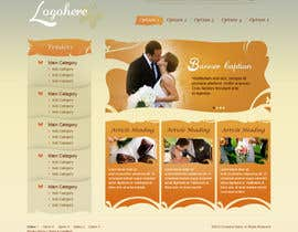 #29 untuk Website Design for Wedding Portal oleh brnbhttchry