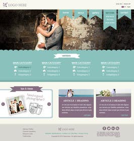 #5 for Website Design for Wedding Portal by WeAreLuminosity