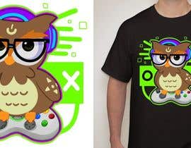 #73 for T-shirt Owl Design for Geek/Gamer Shop by albertwesker