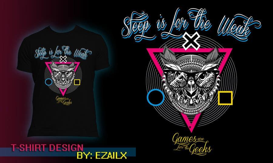 Bài tham dự cuộc thi #62 cho T-shirt Owl Design for Geek/Gamer Shop