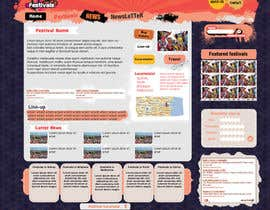 #16 para Website Design for eFestivals de Vmuscurel