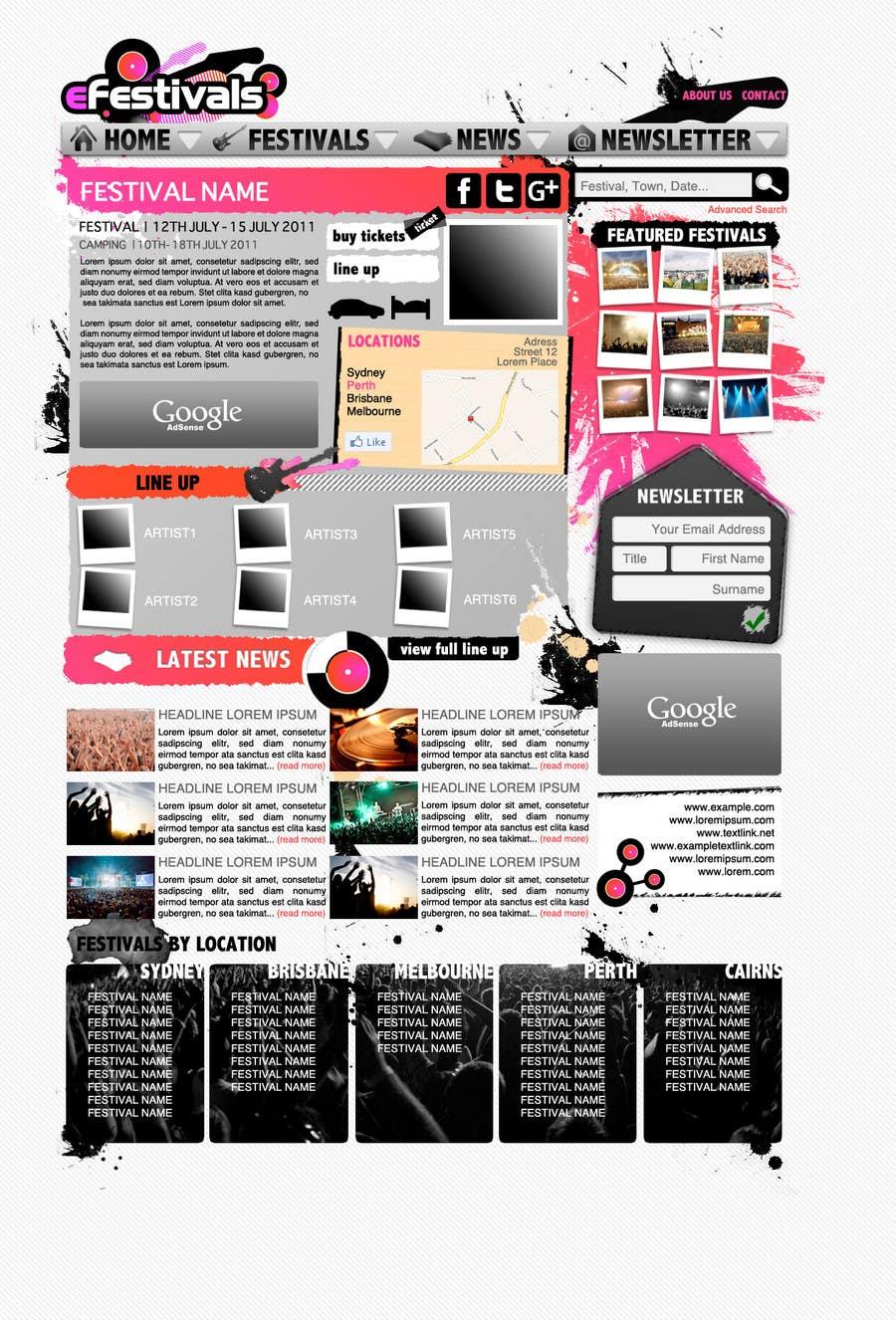 Konkurrenceindlæg #                                        17                                      for                                         Website Design for eFestivals