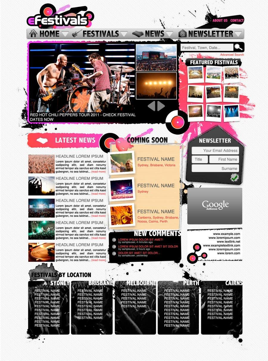 Contest Entry #11 for Website Design for eFestivals