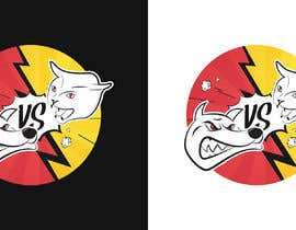 #59 untuk Cat Vs. Dog logo illustration oleh becretive