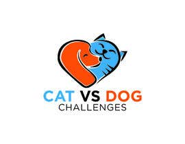 #39 untuk Cat Vs. Dog logo illustration oleh rokeyastudio