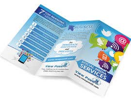 nº 6 pour Tri-Fold Brochure Design for Social Media Marketing Sevices par creationz2011