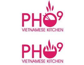 "#2 for Design a Logo for a Vietnamese Kitchen Restaurant ""Pho Nine"" by mizpig"