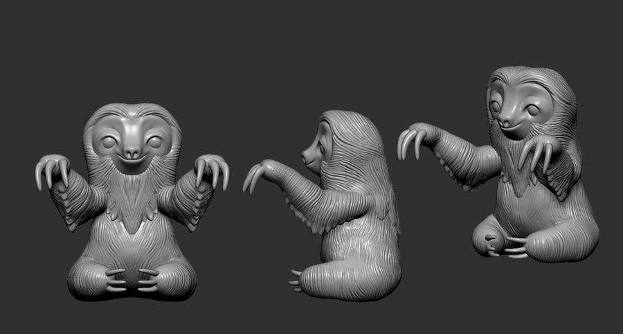 Contest Entry #                                        1                                      for                                         3d Printable Cute Sloth