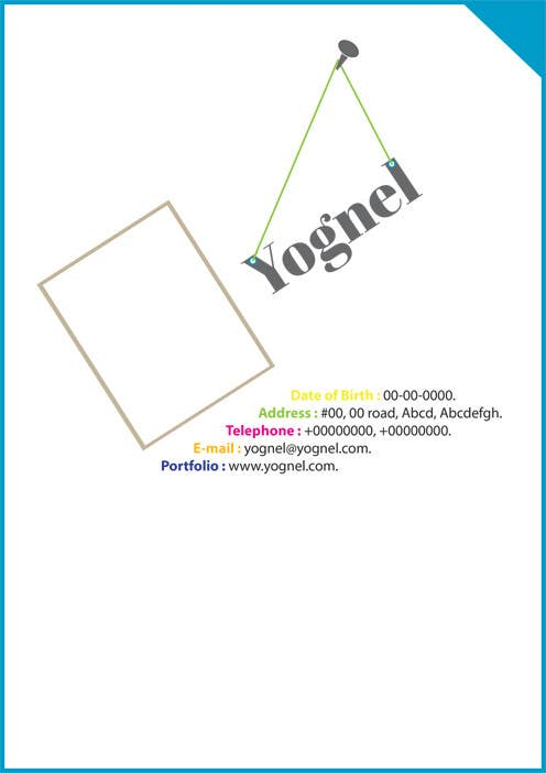 Contest Entry #                                        2                                      for                                         Stationery Design for Yognel Resume (CV)