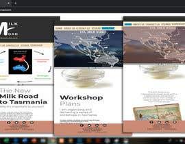 #22 untuk Design a mock up for a website about The New Milk Road oleh Metalgeek