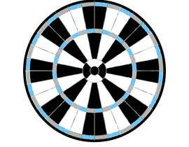 #12 for Create vector image of a custom dart board. by abdelali2013