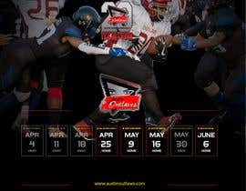 #24 for Womens Tackle Football Season Schedule by DESIGNERpro11