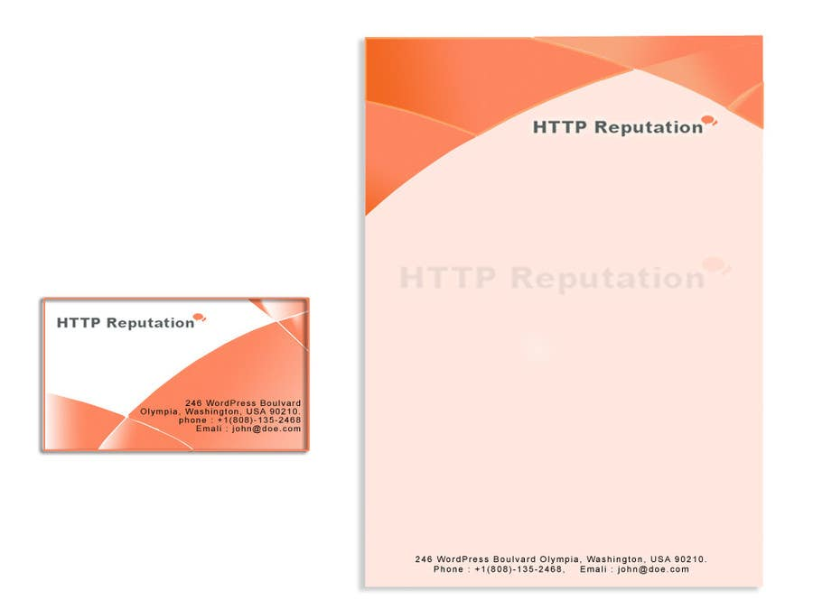 #28 for Business Card and letter head Design for httpreputation by anuprai56