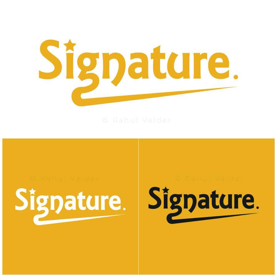Bài tham dự cuộc thi #88 cho Signature logo