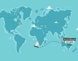 #15 for Animated Map of Sailing boat Around the World af Mustafawadiwala