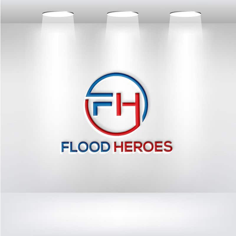 Kilpailutyö #                                        163                                      kilpailussa                                         Flood Heroes Logo