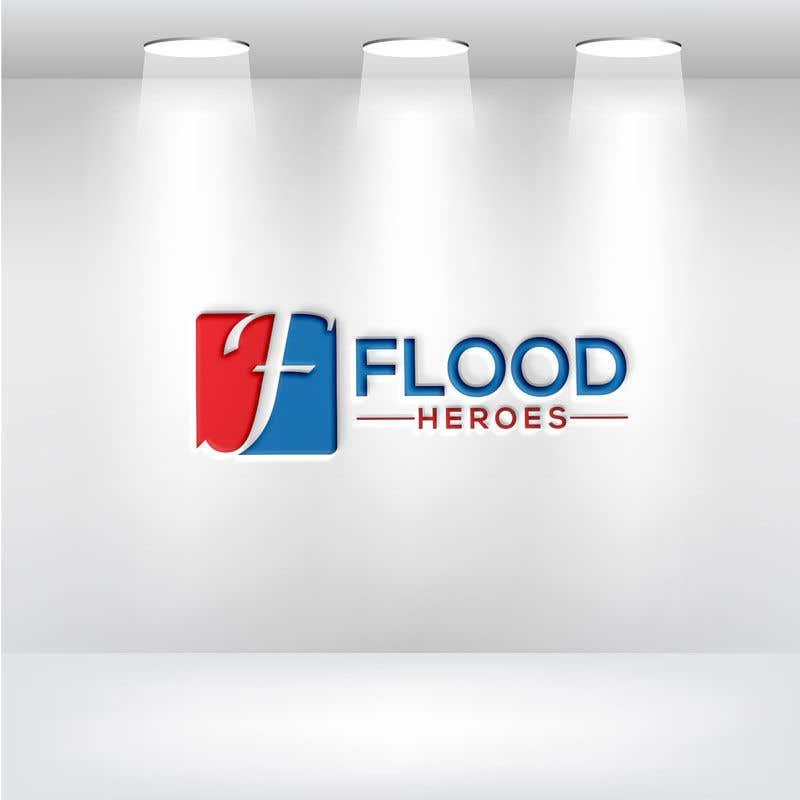 Kilpailutyö #                                        164                                      kilpailussa                                         Flood Heroes Logo