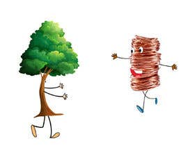 #69 for Make a picture of a tree hugging copper by itsmerenjith