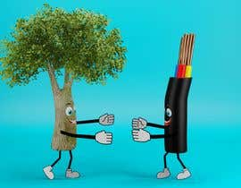 #185 for Make a picture of a tree hugging copper by RamCKumar