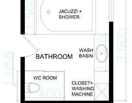 Nro 5 kilpailuun I have a Master Bathroom need to set a nice plan käyttäjältä ssquaredesign