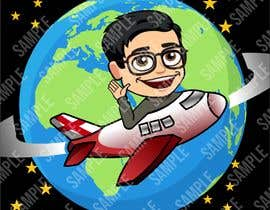 #5 cho Hello! I'm looking for a cartoon for my YouTube channel and website. I'm looking for my head to be put on a airplane maybe flying around the planet going right not left ? Please make sure I am able to use for this for commercial use. That be great! bởi masmirzam