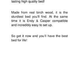 #54 untuk Write Facebook Ad Copy for a Bed we are selling oleh mvamva