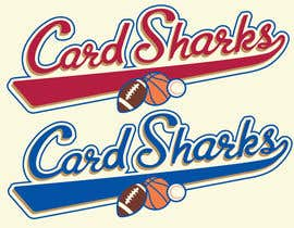 #105 untuk Logo Design for our new sports card shop!  CARD SHARKS! oleh bam1878