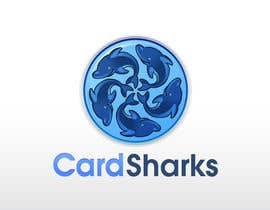 #100 para Logo Design for our new sports card shop!  CARD SHARKS! por logoforwin
