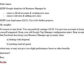 #3 for Give Me Your Expert Advice On Setting Up Facebook Business Manager & Google Accounts af ArvidsM