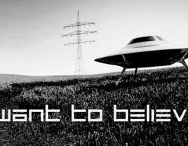 "#38 untuk T-shirt Design for ""I Want To Believe"" UFO shirt. oleh kittikann"