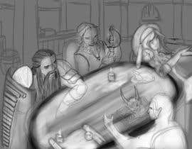 #15 dla Draw an image of D&D Characters in a tavern przez nephilimrock