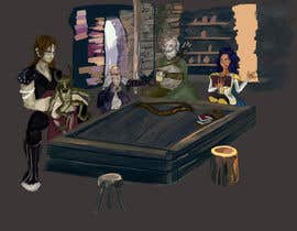 #12 dla Draw an image of D&D Characters in a tavern przez ardentika