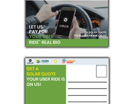 "#22 dla Postcard for ""Let Us Pay for Your Uber Ride"" przez Nargis008"