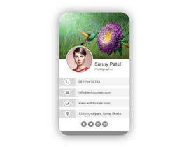 #2 dla 5 Template for Digital Business Card przez smartghart