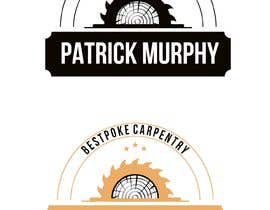 #6 dla I need a logo designed for a carpenter. The company name is Patrick Murphy Bespoke Carpentry. I would like black font for the writing and sleek and corporate looking. Please include that green colour in the design somehow. przez carlosgirano