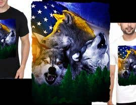 #18 dla Professional Wolf Shirt Design (Photoshop) przez marclind