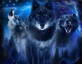 #129 dla Professional Wolf Shirt Design (Photoshop) przez JosephzDesign