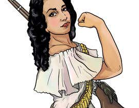 #50 para Logo Illustration Women in Dress Flexing muscle holding rifle de labtop08